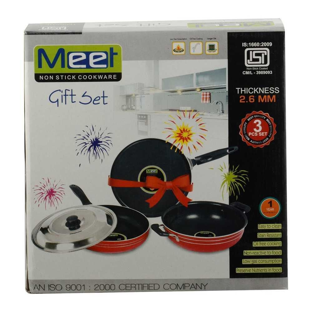 Picture of Meet Silicone Kadai,Dosa Tawa & Fry Pan Gift Pack 2.6mm