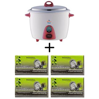 Picture of Patanjali Combo Offer: Bajaj Majesty RCX 28 Electric Rice Cooker + Patanjali Super Dishwash Bar Rs10 (4 Bar)