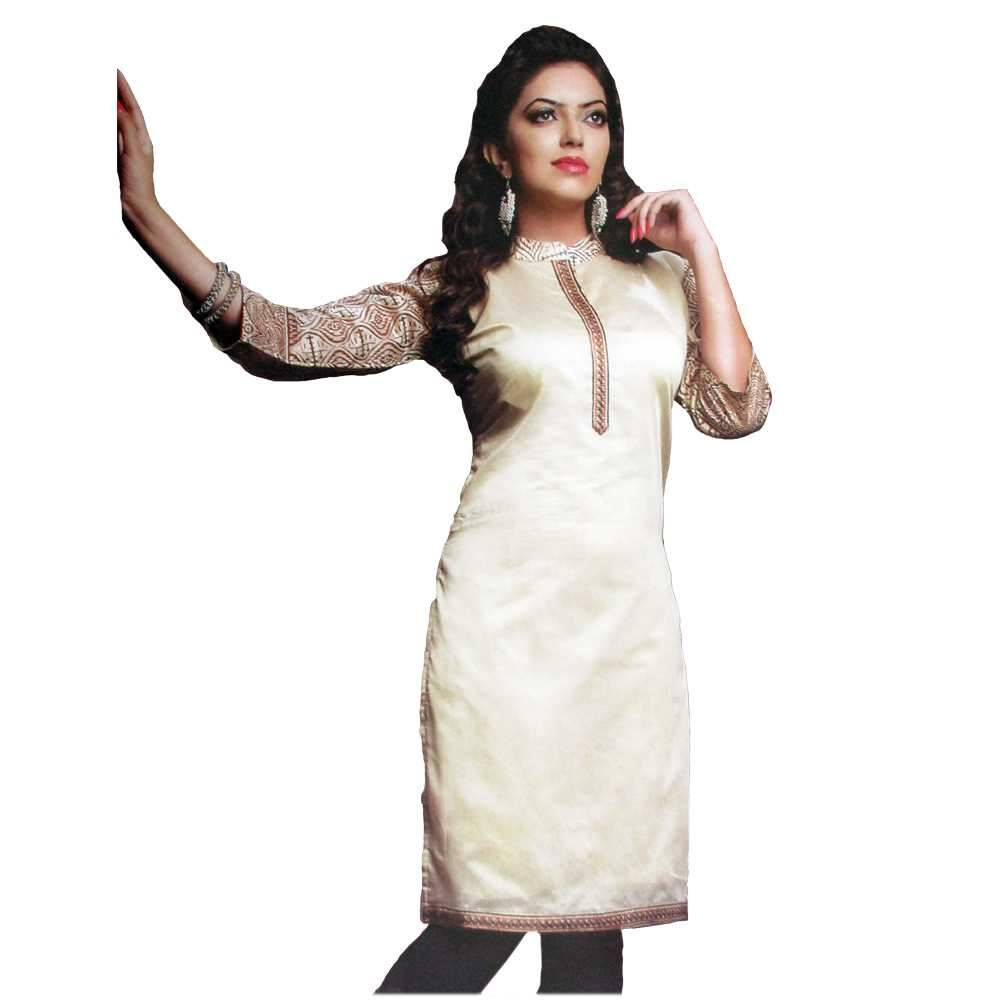 Picture of Vala's Silver Gold Kurti D.No.3603