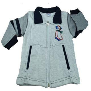 Picture of Mama & Bebes Infant Wear Hooded Full Sleeve Shirt Grey