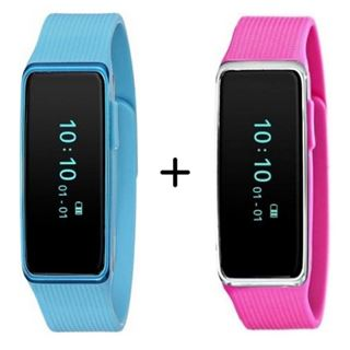 Picture of Combo Offer: Nuband Activ+ NU-G0002-BL Tracker (Blue) + Nuband Nu-g0002-pk Activ+ Pink Activity/sleep Tracking Fitness Band