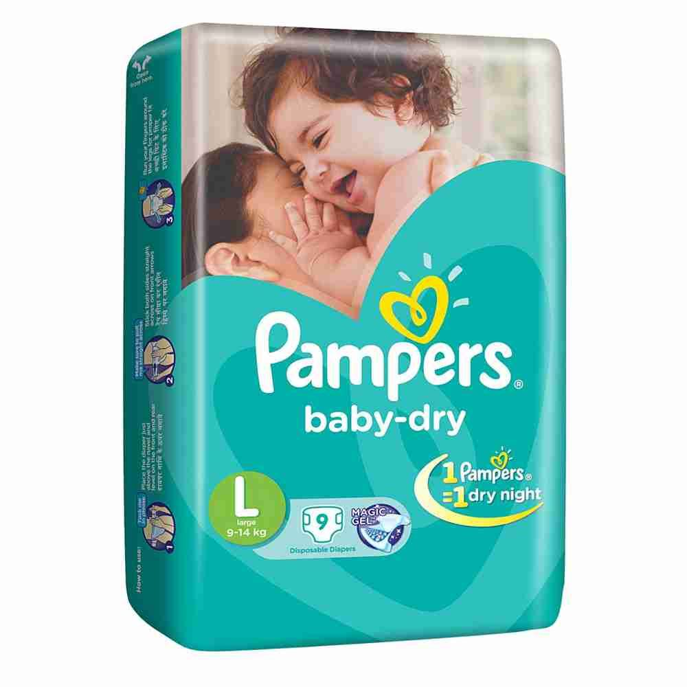 Picture of Pamper Large 9-14 8 Diaper