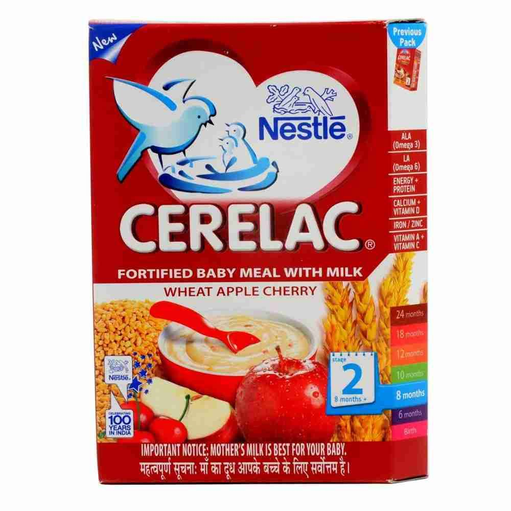 Picture of Nestle Cerelac Wheat Apple Cherry 300gm