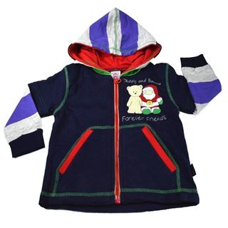 Picture of Mama & Bebes Infant Wear Kids Full Sleeves Hooded Jacket Navy Blue