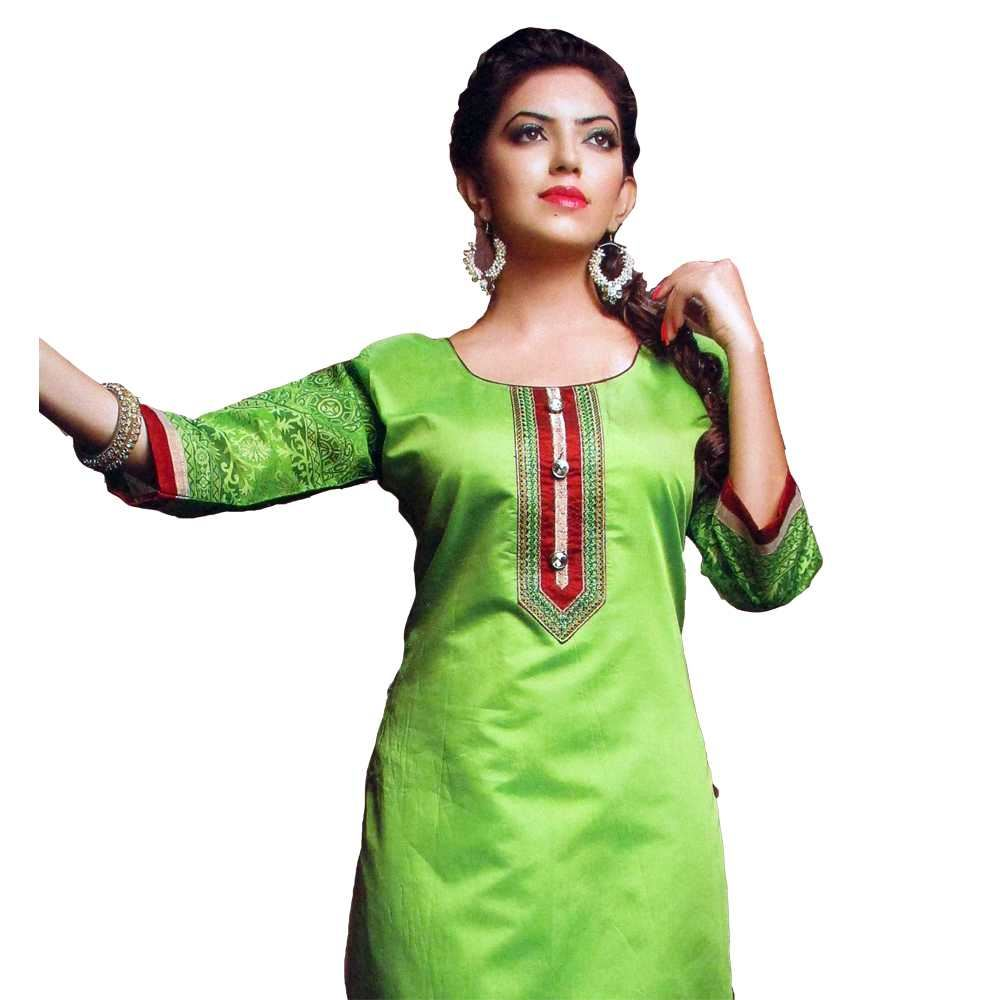 Picture of Vala's Silver Gold Kurti D.No.3602