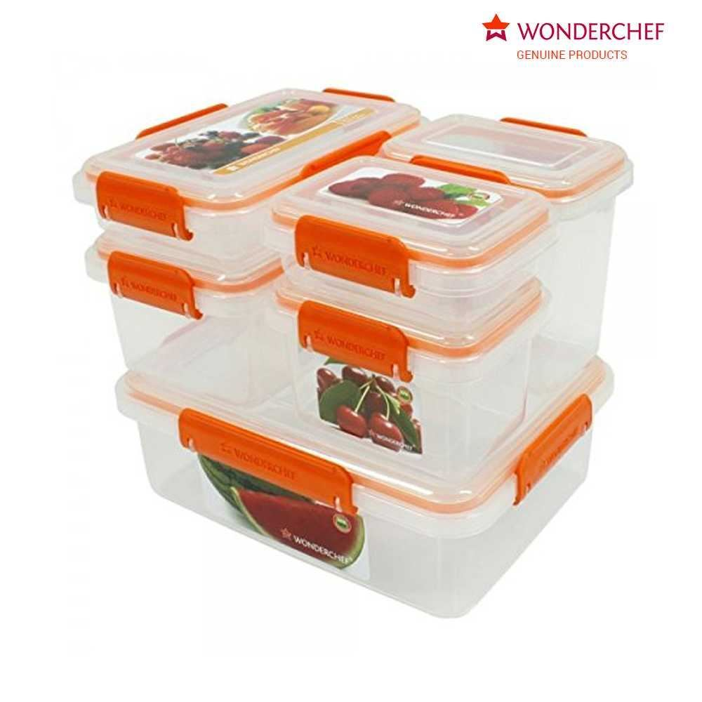 Picture of Wonderchef Lockit Pack of 6 Containers