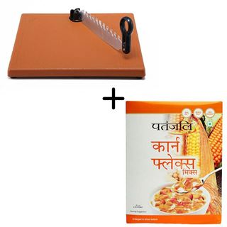 Picture of Patanjali Combo Offer: Anjali Fantastique Flexie Stainless Steel + Patanjali Corn Flakes Mix 500g
