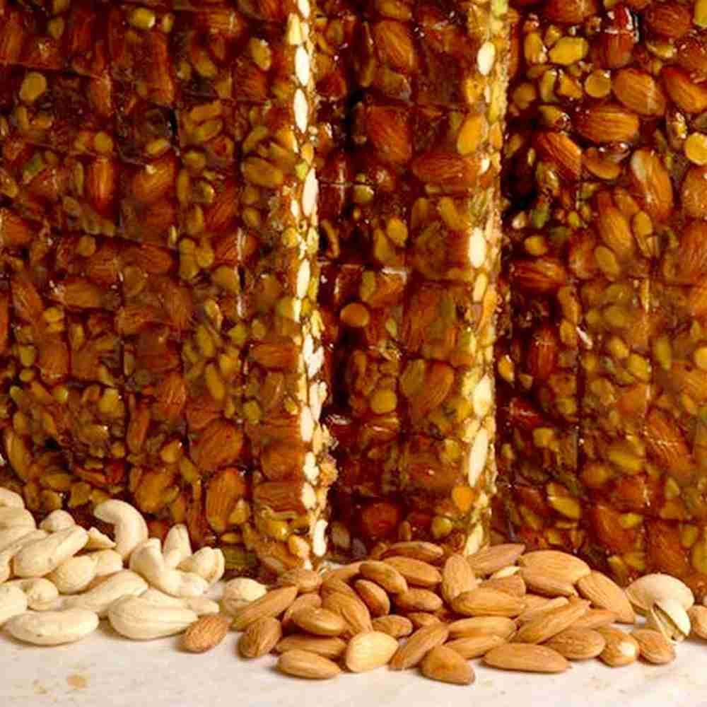 Picture of Dry Fruit Chikki- 5 Rs Each (80Pcs)