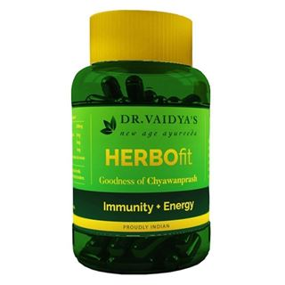 Picture of Dr. Vaidya's Herbofit Immunity and Energy Booster 30 Capsules