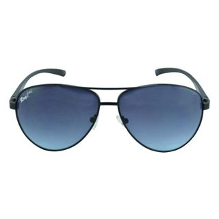 Picture of Polo House USA  Men's Sunglasses  Black Blue (RoyAlu5002Blblue)