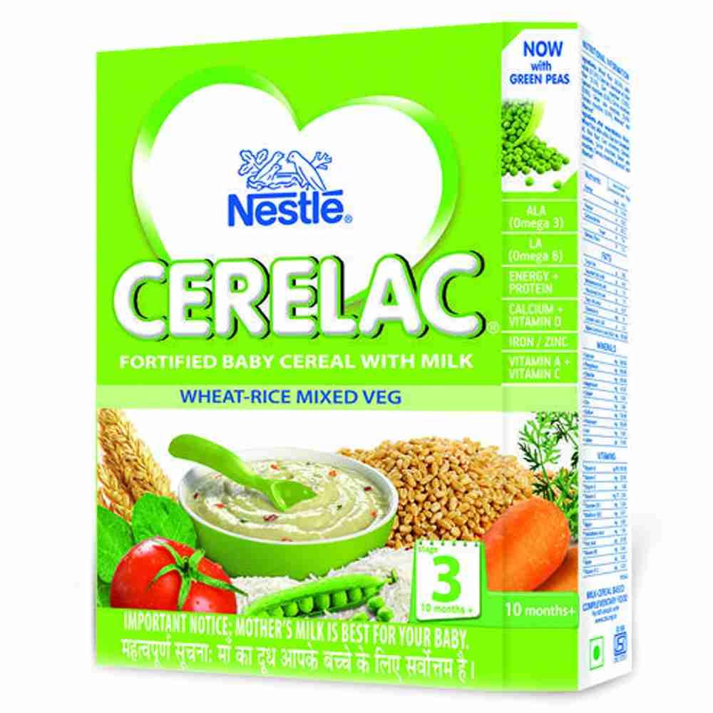 Picture of Nestle Cerelac Wheat -Rice Mixed Veg 300gm