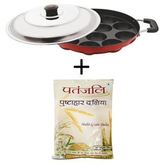 Picture of Patanjali Combo Offer: Meet Silicone  Appam Patra 275mm + Patanjali Pushtahar Dalia 500gm