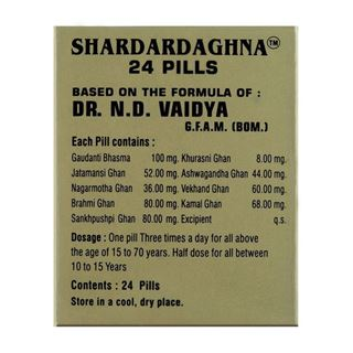 Picture of Dr. Vaidya's Shardardaghna Relief from Headache and Migraine 24 Pills