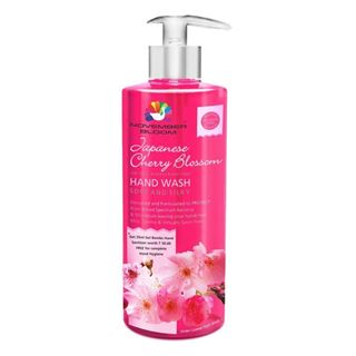 Picture of November Bloom Japanese Cherry Blossom Hand Wash Bottle Large 515 ml+ Free one 35 ml Hand Sanitizer worth Rs. 50