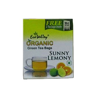 Picture of Eco Valley Organic Green Tea Bag Tulsi & Citrus (10+2Bags)