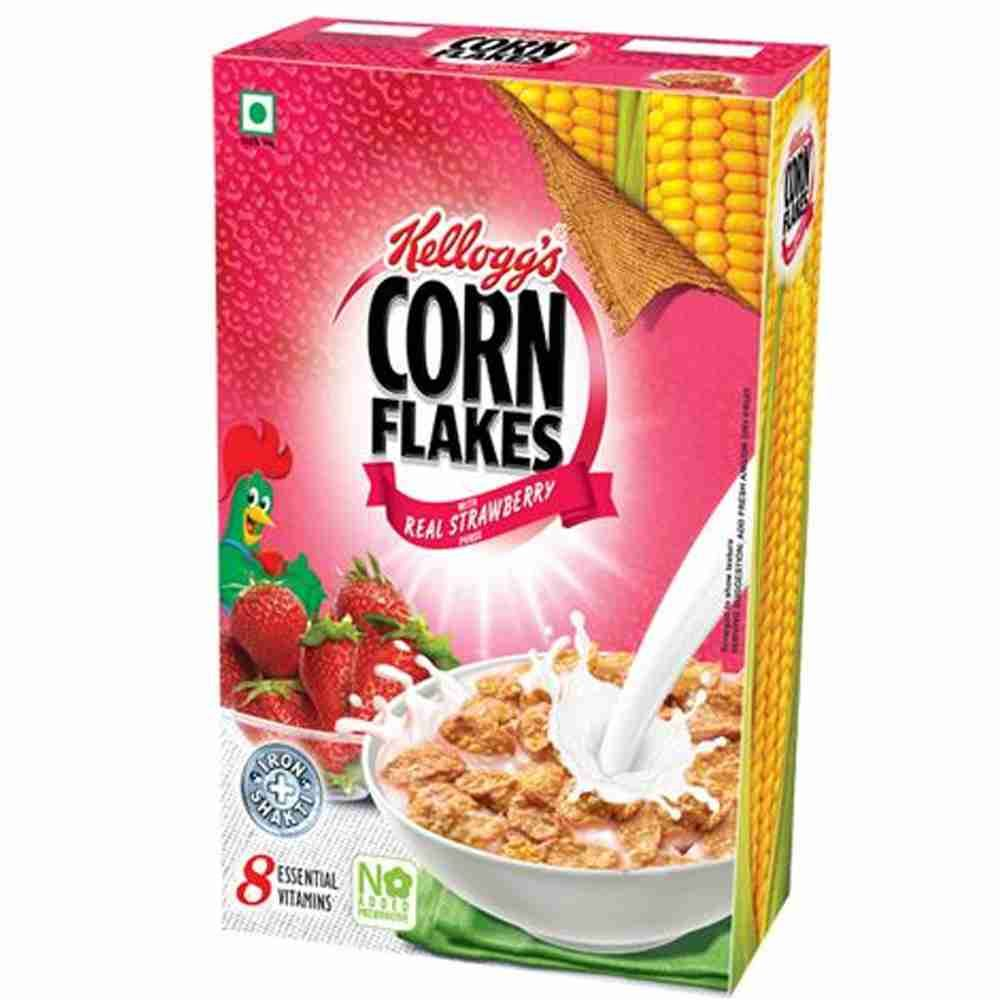 Picture of Kelloggs Real Strawberry Puree Corn Flakes 275gm