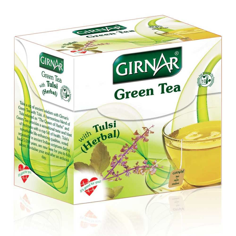 Picture of Girnar Green Tea Tulsi 10pcs