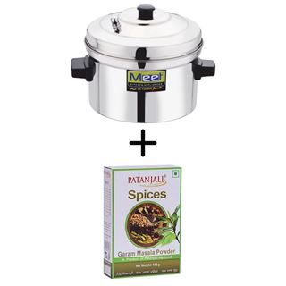 Picture of Patanjali Combo Offer: Meet Idli Cooker 6 Plates + Patanjali Garam Masala 100gm