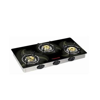 Picture of Butterfly Gas Stove Top-Pine 3 Burner Glass L3550G00000
