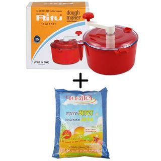 Picture of Patanjali Combo Offer: Ritu Dough Maker J-198 (2 in 1) + Patanjali Navratna Atta 2kg