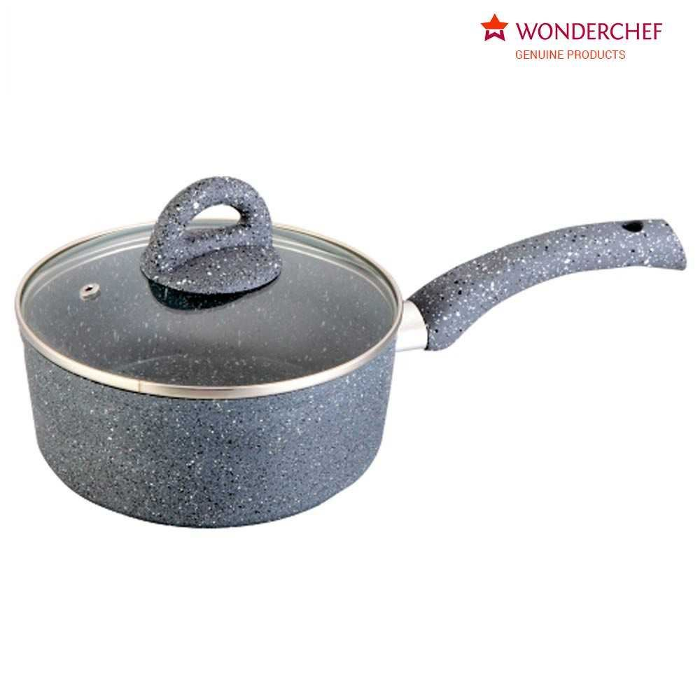 Picture of Wonderchef Granite Sauce Pan With Lid 18cm