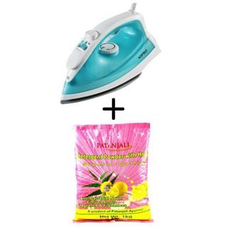 Picture of Patanjali Combo Offer: Wipro Smartlife Steam Iron 1600W + Patanjali Detergent Powder 1kg