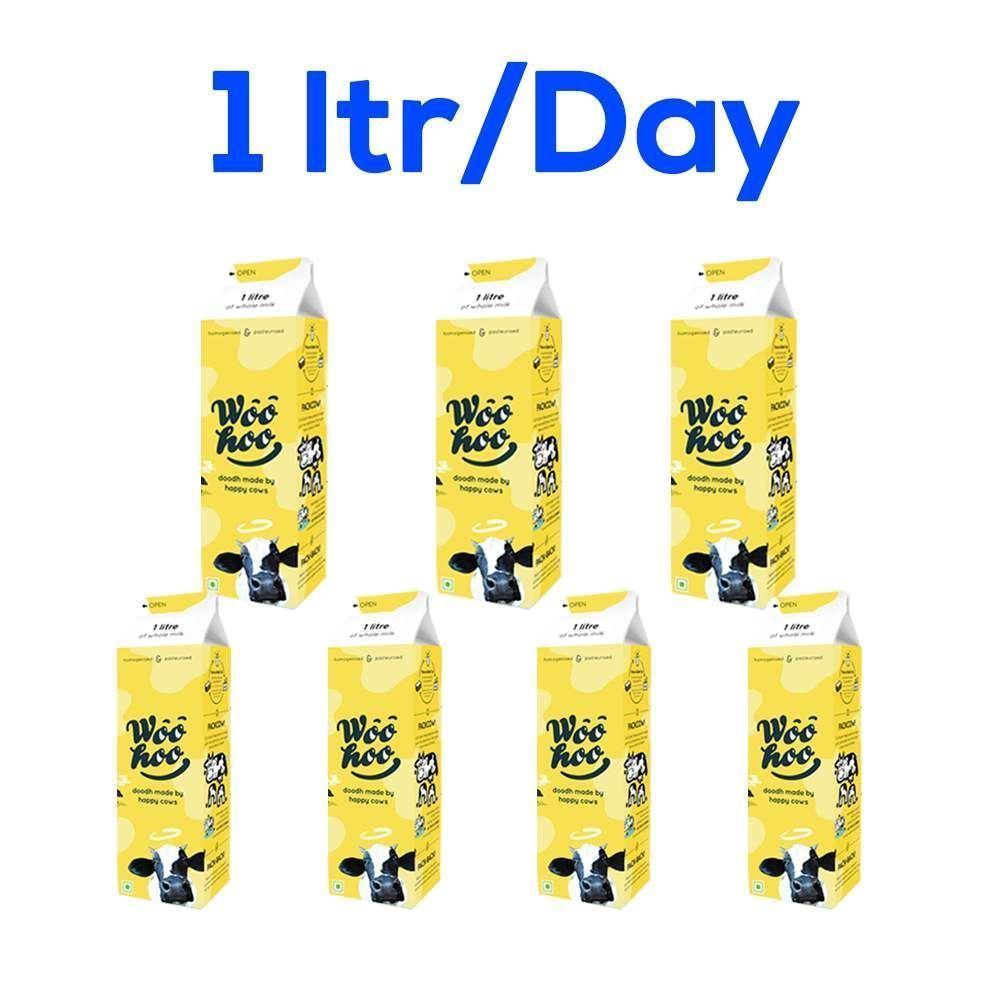 Woohoo Doodh (Milk) 7ltrs (One Litre Per Day)