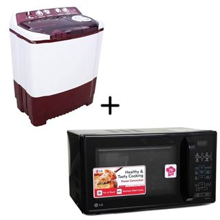 Picture of Combo Offer: LG Washing Machine P7225R3FA + LG Microwave Oven MC2143CB