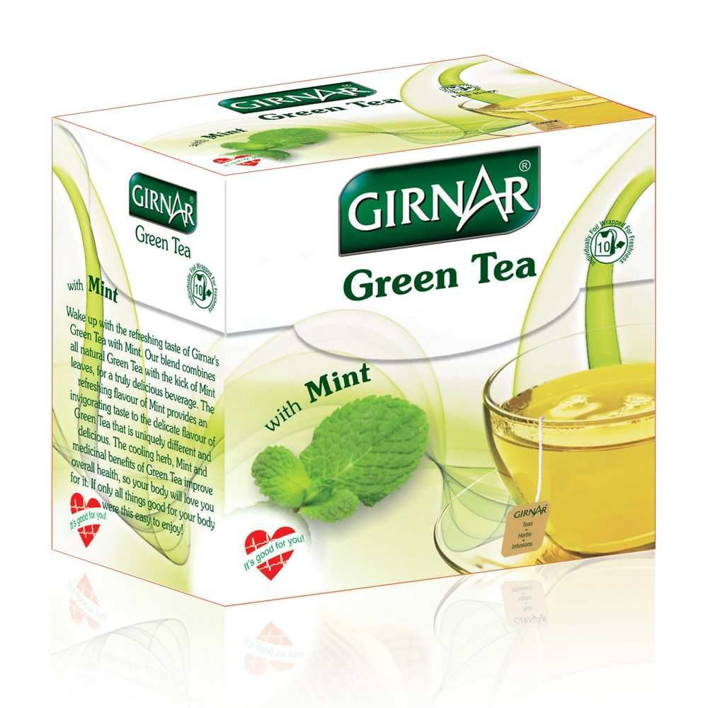 Picture of Girnar Green Tea Mint 10pcs