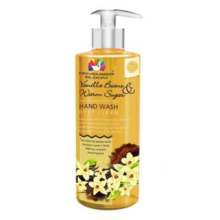 Picture of November Bloom Vanilla Beans and Warm Sugar Hand Wash Bottle Large 515 ml + Free one 35 ml Hand Sanitizer worth Rs. 50