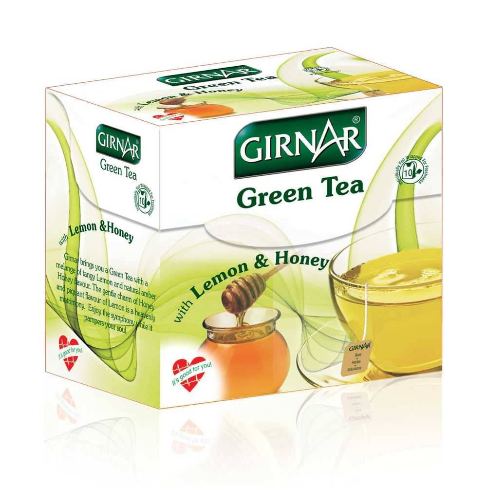 Picture of Girnar Green Tea Lemon & Honey 10pcs
