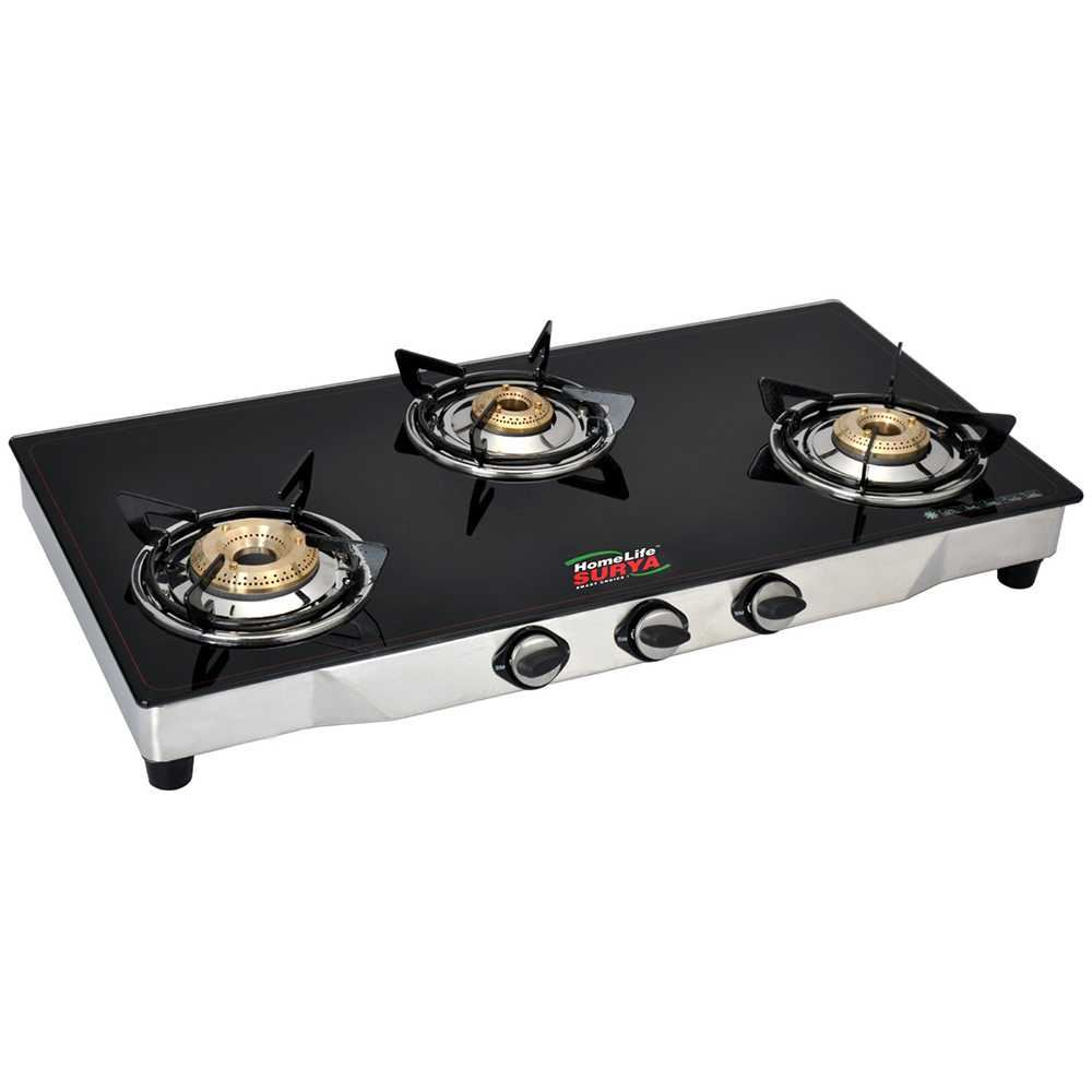 Picture of Homelife LPG Glass 3B Black Cooktop