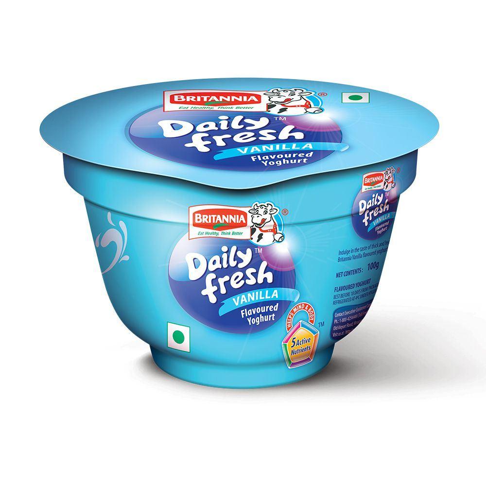 Picture of Britannia Daily Fresh Yogurt Vanilla 100gm