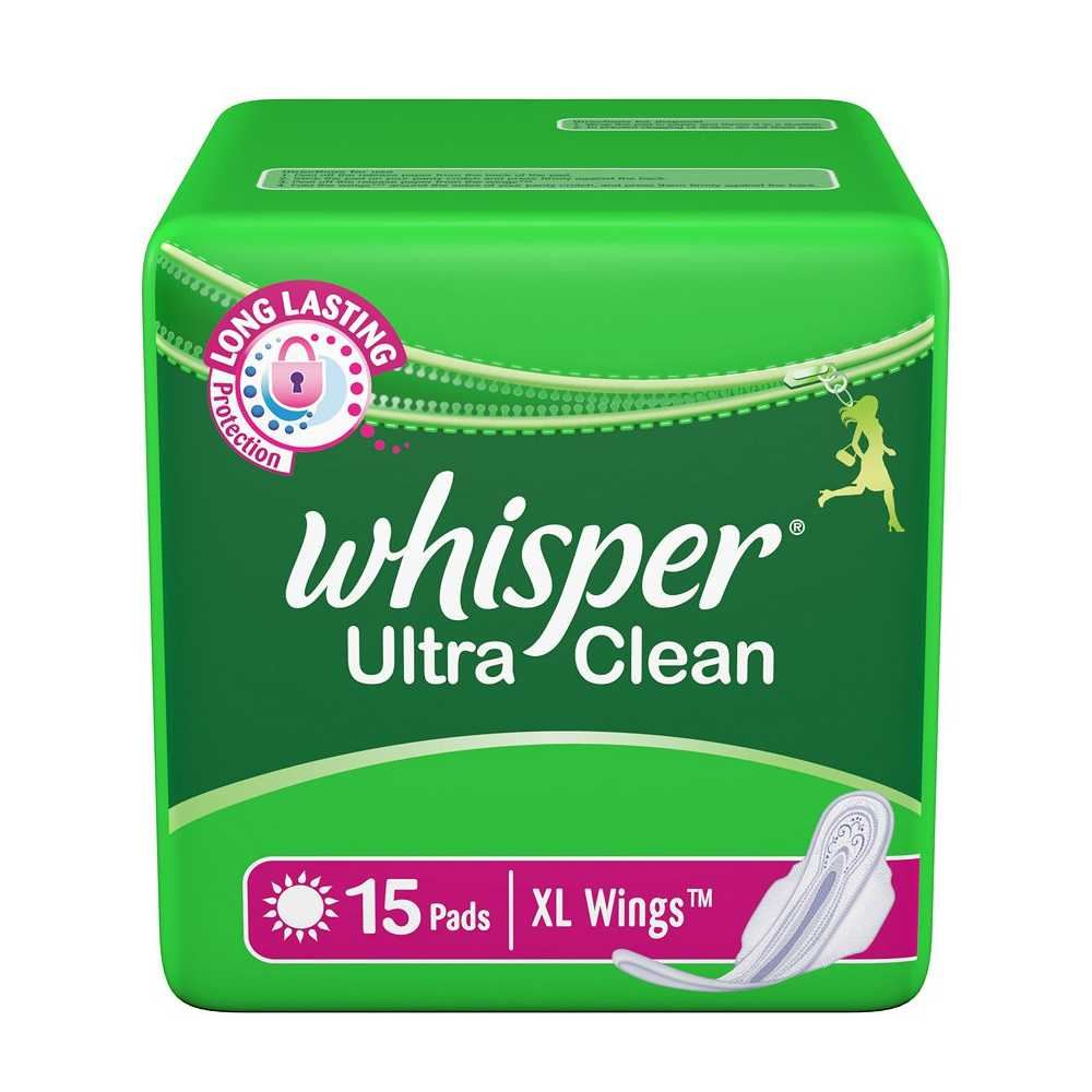 Picture of Whisper Ultra Clean L Wings 15 Pads