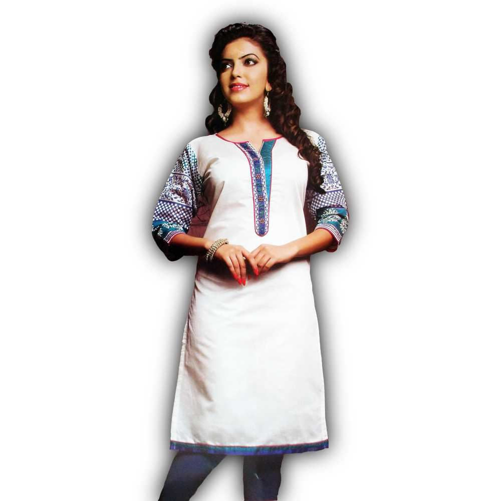 Picture of Vala's Silver Gold Kurti D.No.3599