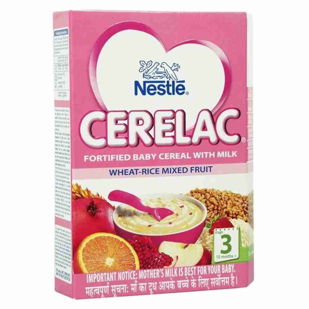 Picture of Nestle Cerelac Wheat Rice Mix Fruit 300gm