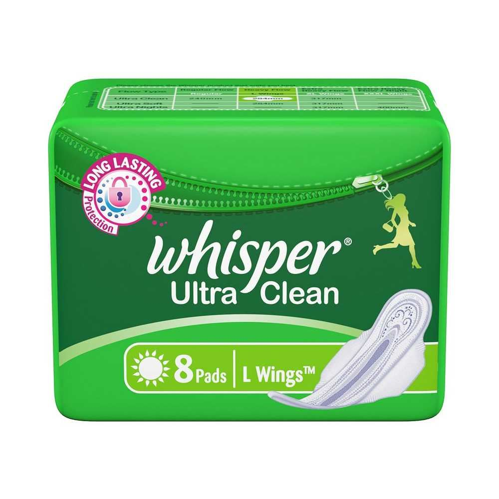 Picture of Whisper Ultra Clean L Wings 8 Pads