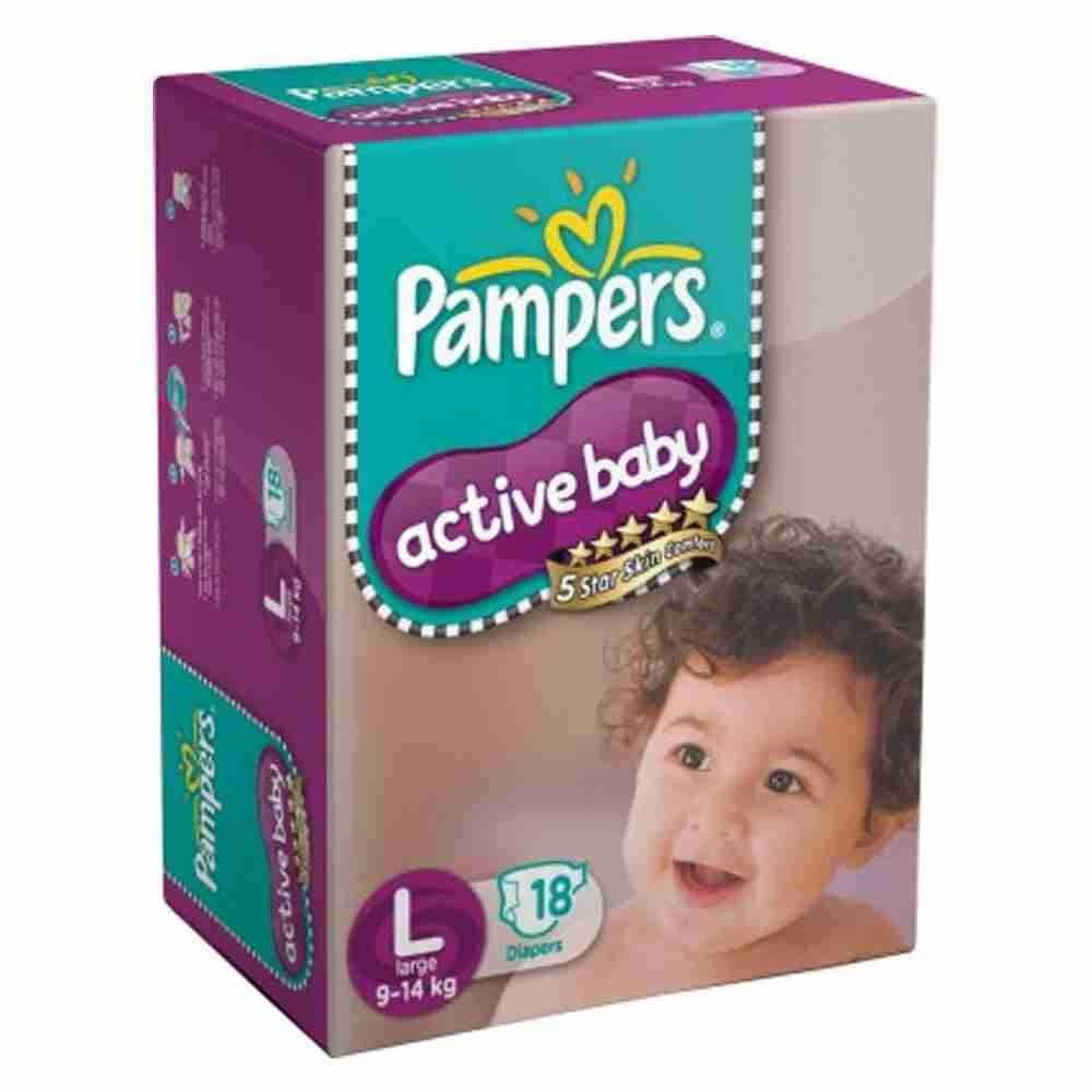 Picture of Pamper Active Baby Large 18pads