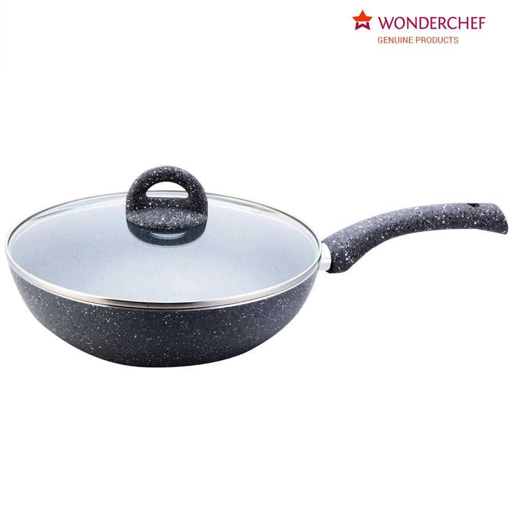 Picture of Wonderchef Granite Kadai With Lid 24cm