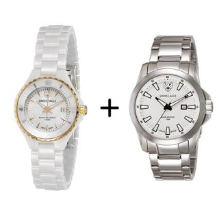 Picture of Combo Offer: Swiss Eagle Analog Watch for Women SE-6066-33 + Swiss Eagle Analog Watch For Men SE-9056-22