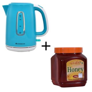Picture of Patanjali Combo Offer: Wonderchef Regalia Kettle 1.7Ltr + Patanjali Honey 1kg