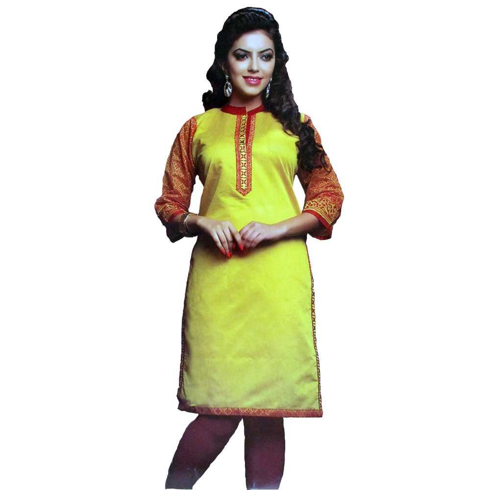 Picture of Vala's Silver Gold Kurti D.No.3600