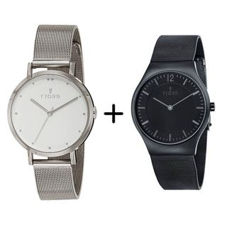 Picture of Combo Offer: Fjord Analog Women's Watch FJ-6019-22 + Fjord Analog Men's Watch FJ-3025-33