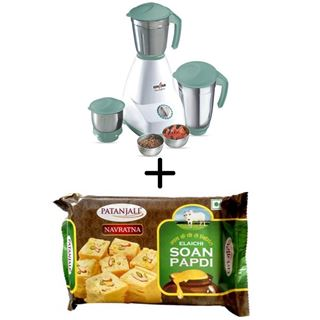 Picture of Patanjali Combo Offer: Kenstar Mixer Grinder Senator SS + Patanjali Pure Ghee Soan Papdi 250gm