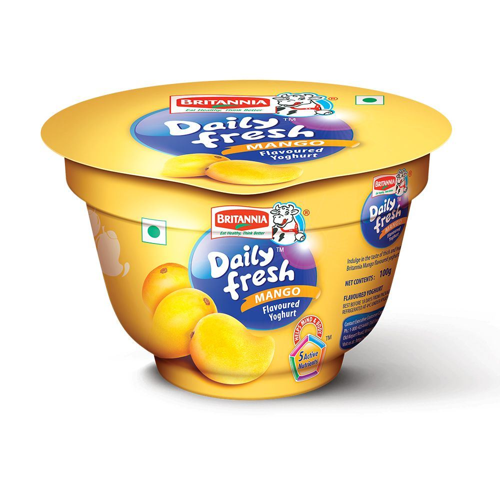Picture of Britannia Daily Fresh Yogurt Mango 100gm