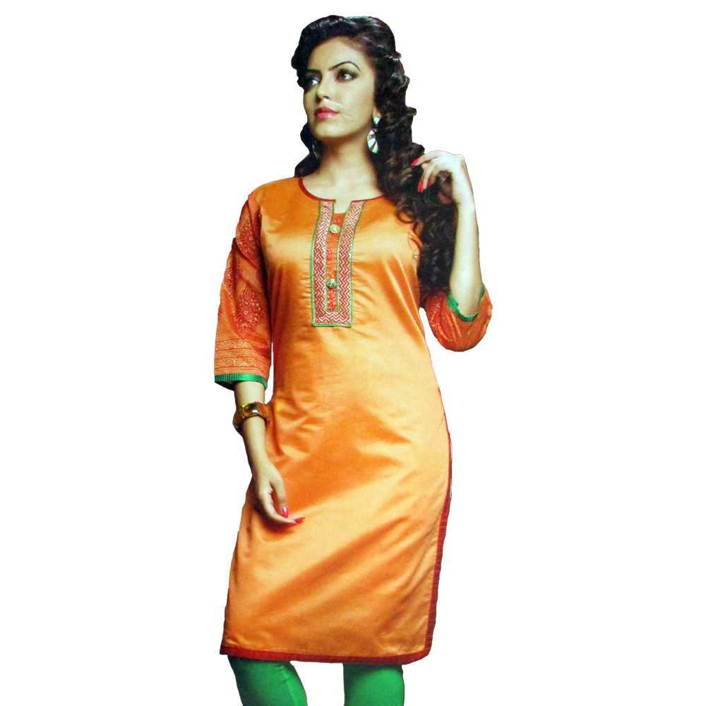 Picture of Vala's Silver Gold Kurti D.No.3601