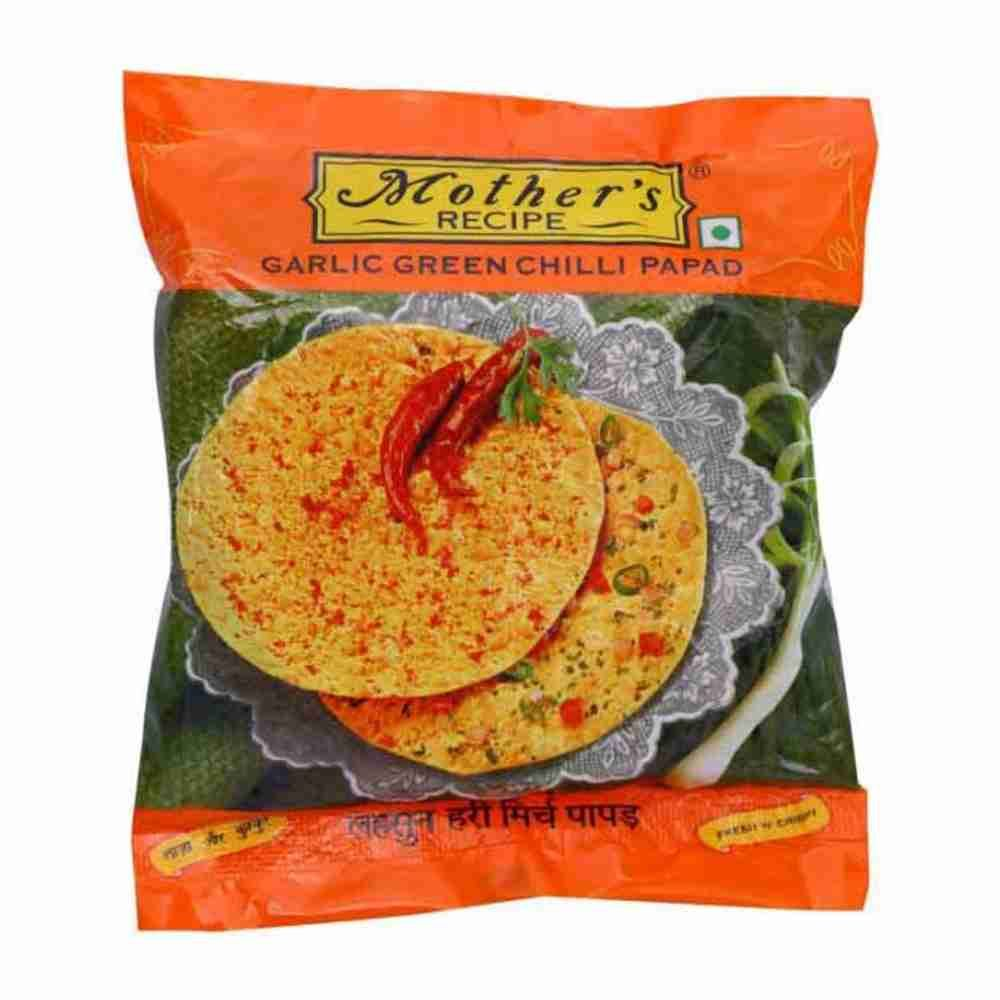 Picture of Mother's Garlic Green Chilli Papad 200gm