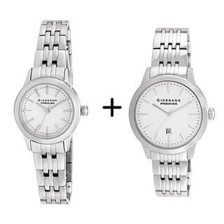 Picture of Combo Offer: Giordano Analog Women's Watch P226-22 + Giordano Analog Men's Watch P126-22